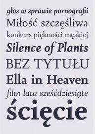 Krój Czcionki Szymborska